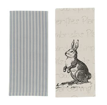 Picture of Rabbit Decorative Towel - Set of 2 - Assorted