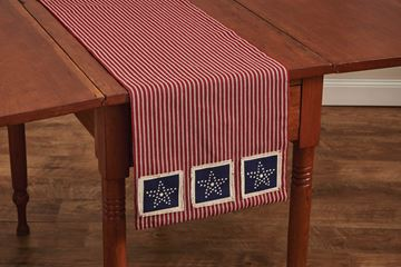 "Picture of Americana Star Patch Table Runner 42"" Long"