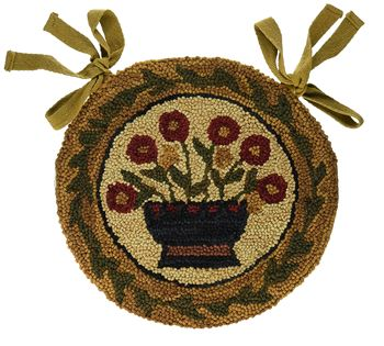 Picture of Flower Basket Hooked Chair Pad