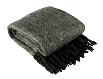 Picture of Brushed Blend Brown & Black Throw