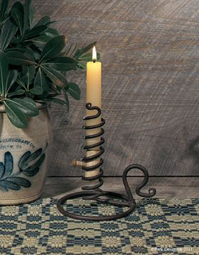 Picture of Forged Iron Courting Candle Holder For Taper
