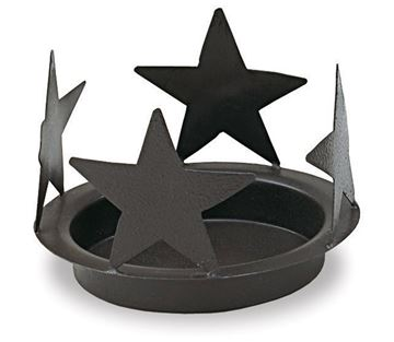 Picture of Star In Black Candle Pan For Glass Cylinder For Pillar