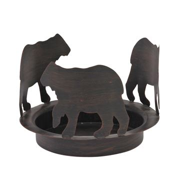 Picture of Bear Tracks candle Pan for Glass Cylinder For Pillar
