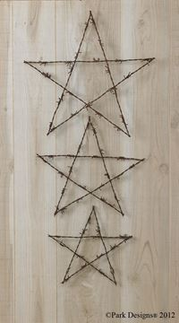 Picture of Western Wire Stars Wall Art - Set Of 3
