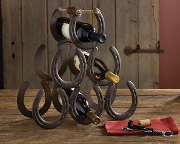 Picture of Horseshoe Wine Rack - 6 Bottles