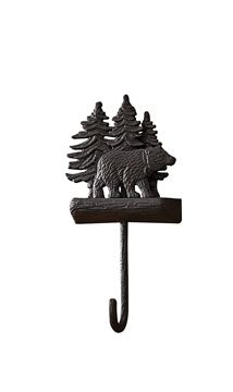 Picture of Cast Black Bear Decorative Hook - Single