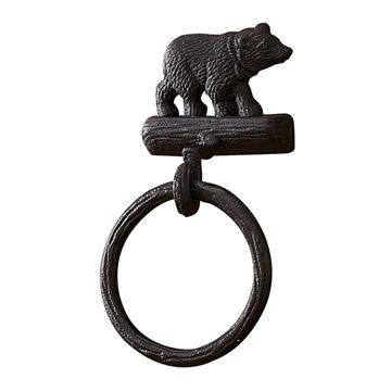 Picture of Cast Black Bear Towel Ring