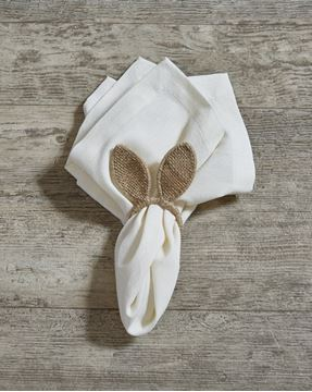 Picture of Burlap Bunny Ears Napkin Ring