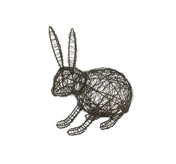 Picture of Wire Sitting Bunny Decorative Accessory