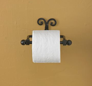 Picture of Forged Iron Scroll Toilet Tissue Holder - Wall Mount