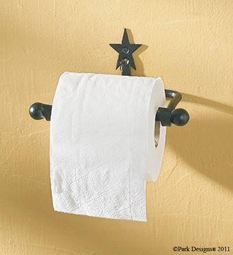 Picture of Forged Iron Star Toilet Tissue Holder - Wall Mount