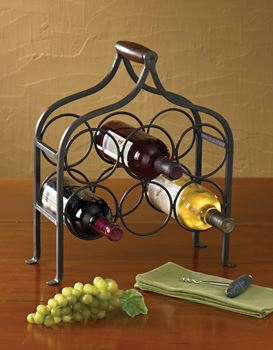 Picture of Forged Iron Wine Rack - 6 Bottles