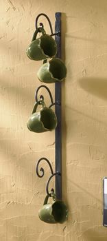 Picture of Forged Iron Scroll Mug Rack - Counter Top - 5 Mugs