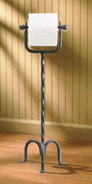 Picture of Forged Iron Toilet Tissue Holder - Standing