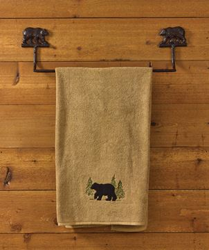 "Picture of Cast Burl Bear Towel Bar 24"" Long"
