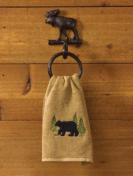 Picture of Cast Burl Moose Towel Ring
