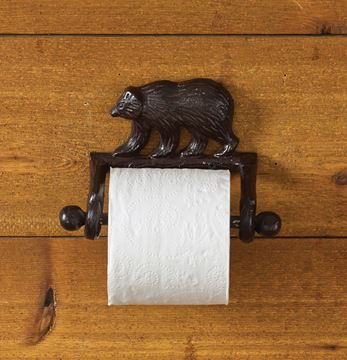 Picture of Cast Burl Bear Toilet Tissue Holder - Wall Mount