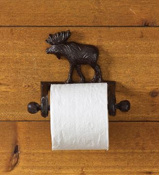 Picture of Cast Burl Moose Toilet Tissue Holder - Wall Mount