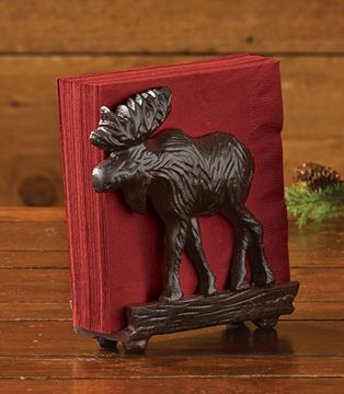 Picture of Cast Burl Moose Napkin Holder