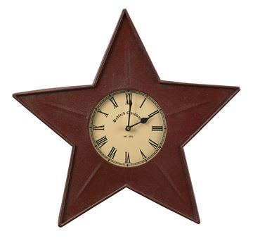 Picture of Star In Red Clock