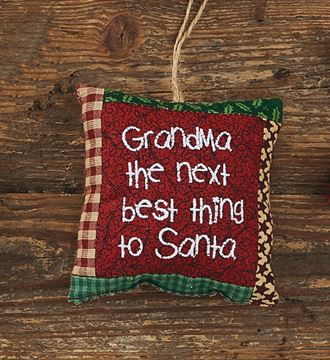 Picture of Grandma:  The Next Best Thing To Santa Ornament