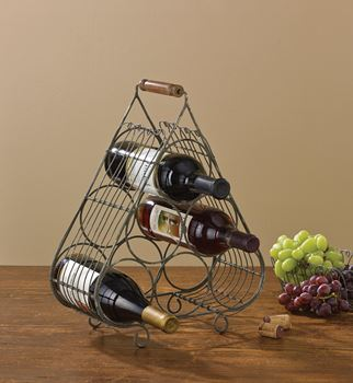 Picture of Vintage Wire Wine Rack - 6 Bottles