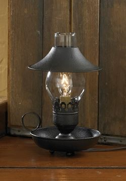 Picture of Chamberstick In Black With Shade Table Lamp