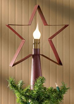 Picture of Star In Red Tree Topper / Lamp