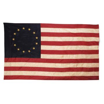 Picture of Betsy Ross Flag - Primitive Nylon Tea Stained Flag