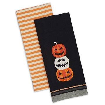 Picture of Stacks Of Jack - Jack O Lantern Decorative Towel - Set Of 2 - Assorted