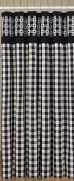 Picture of Checkerboard Star Shower Curtain