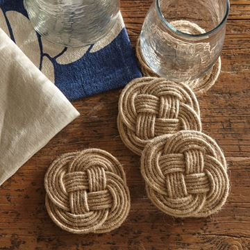 "Picture of Jute Knot Coaster 4"" Diameter - Set Of 4"
