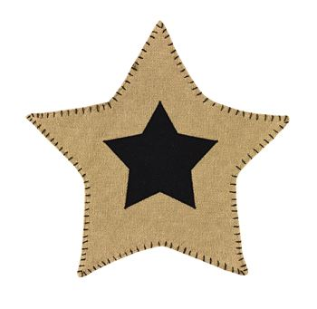 Picture of Burlap Star Accent Mat