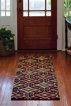 "Picture of Aldrich Hooked Rug Runner 24"" X 72"""