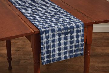 "Picture of B Davies In Blue Table Runner 54"" Long"