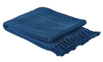 Picture of Bassett Hall Prussia Blue Throw
