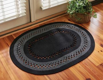 "Picture of Circle Loop Braided Rug 32"" X 42"" Oval"