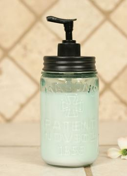 Picture of Mason Jar Pint Size ~ Patent Nov 30Th 1858 Soap / Lotion Dispenser