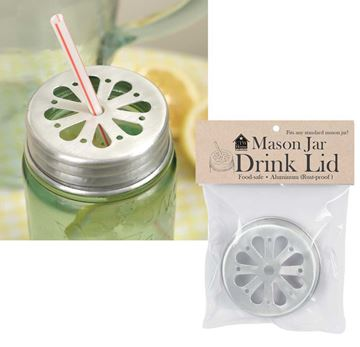 Picture of Straw Holder Mason Jar Lid
