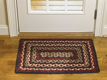 "Picture of Folk Art Braided Rug 20"" X 30"" Rectangle"