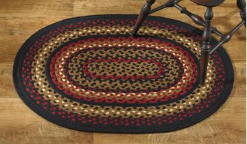 "Picture of Folk Art Braided Rug 32"" X 42"" Oval"