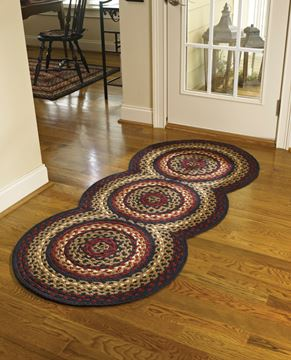 "Picture of Folk Art Braided Rug 30"" X 72"" Runner"