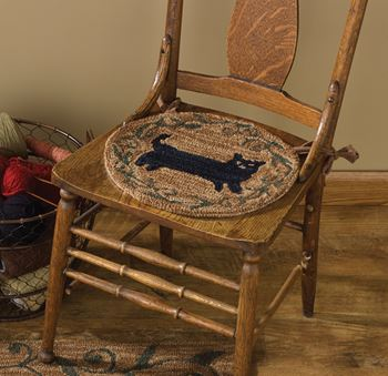 Picture of cat By Teresa Kogut Hooked Chair Pad