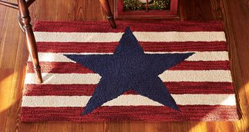 "Picture of American Star Hooked Rug Rectangle 24"" X 36"""