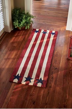 "Picture of American Star Hooked Rug Runner 24"" X 72"""