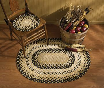"Picture of Cornbread Braided Rug 32"" X 42"" Oval"