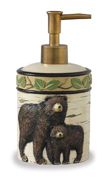 Picture of Black Bear Border Soap / Lotion Dispenser