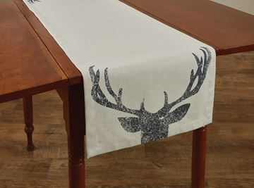 "Picture of Antlers Printed Table Runner 54"" Long"