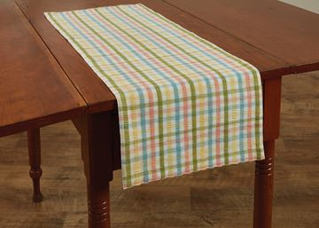 "Picture of Beatrice Seersucker Table Runner 36"" Long"
