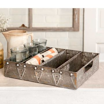 Picture of Galvanized Utensil Tray